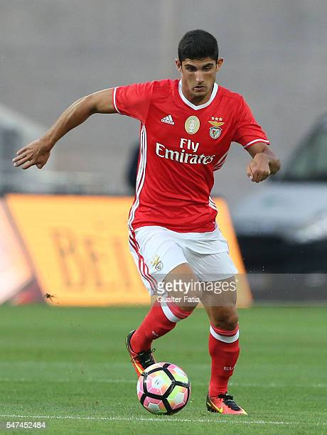 Benfica's midfielder Goncalo Guedes in action during the Algarve Football Cup Pre Season Friendly match between SL Benfica and Vitoria Setubal at...