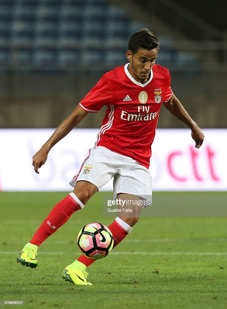 SL Benfica's midfielder Joao Teixeira in action during the Algarve Football Cup Pre Season Friendly match between SL Benfica and Derby County at Estadio do Algarve on July 16, 2016 in Faro, Portugal.