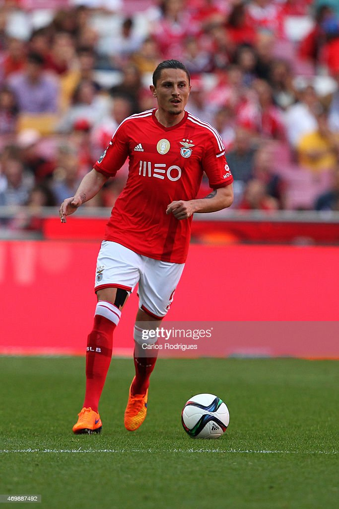 Benfica's midfielder Ljubomir Fejsa during the Primeira Liga Portugal match between Benfica and Academica at Estadio da Luz on April 12, 2015 in Lisbon, Portugal.