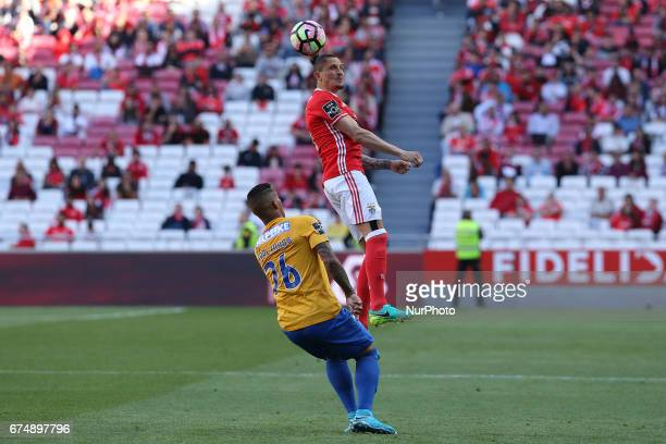 Benficas midfielder Ljubomir Fejsa from Serbia and Estorils forward Carlinhos from Brasil during the Premier League 2016/17 match between SL Benfica...
