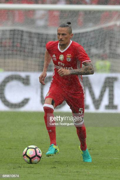 Benfica's midfielder Ljubomir Fejsa from Serbia during the match between SL Benfica and Vitoria SC for the Portuguese Cup Final at Estadio Nacional...
