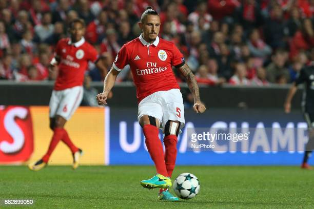 Benficas midfielder Ljubomir Fejsa from Serbia during the match between SL Benfica v Manchester United FC UEFA Champions League playoff match at Luz...