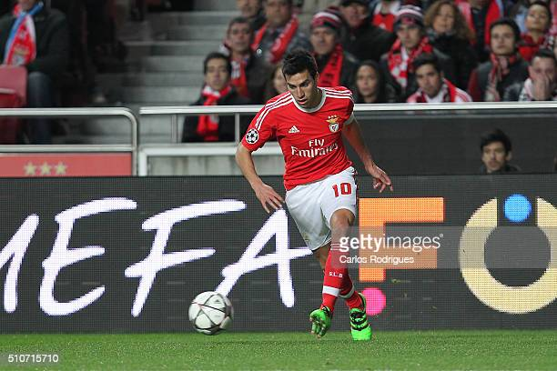Benfica's midfielder Nicolas Gaitan during the match between SL Benfica and FC Zenit for the UEFA Champions League Round of 16 First Leg at Estadio...