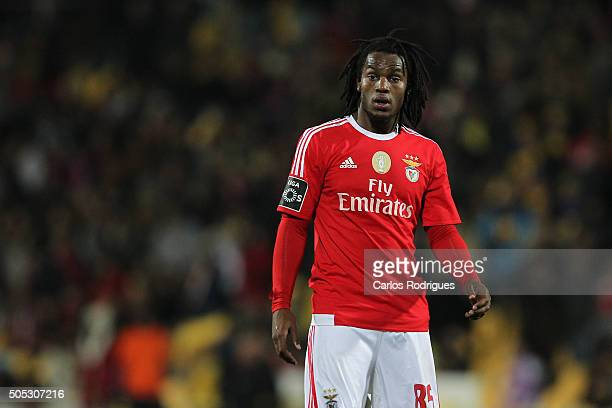 Benfica's midfielder Renato Sanches during the match between GD Estoril and SL Benfica for the Portuguese Primeira Liga at Estadio da Luz on January...