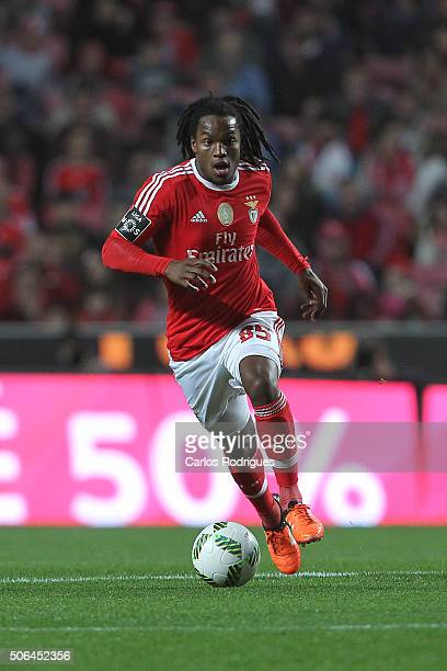 Benfica's midfielder Renato Sanches during the match between SL Benfica and FC Arouca at Estadio da Luz on January 23 2016 in Lisbon Portugal
