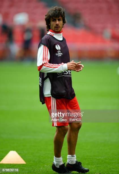 Benfica's Pablo Aimar during training at the Amsterdam Arena