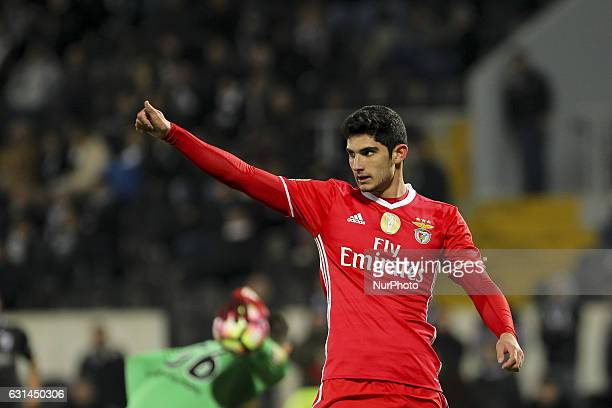 Benfica's Portuguese forward Goncalo Guedes during the League Cup 2016/17 match between Vitoria SC and SL Benfica at Dao Afonso Henriques Stadium in...