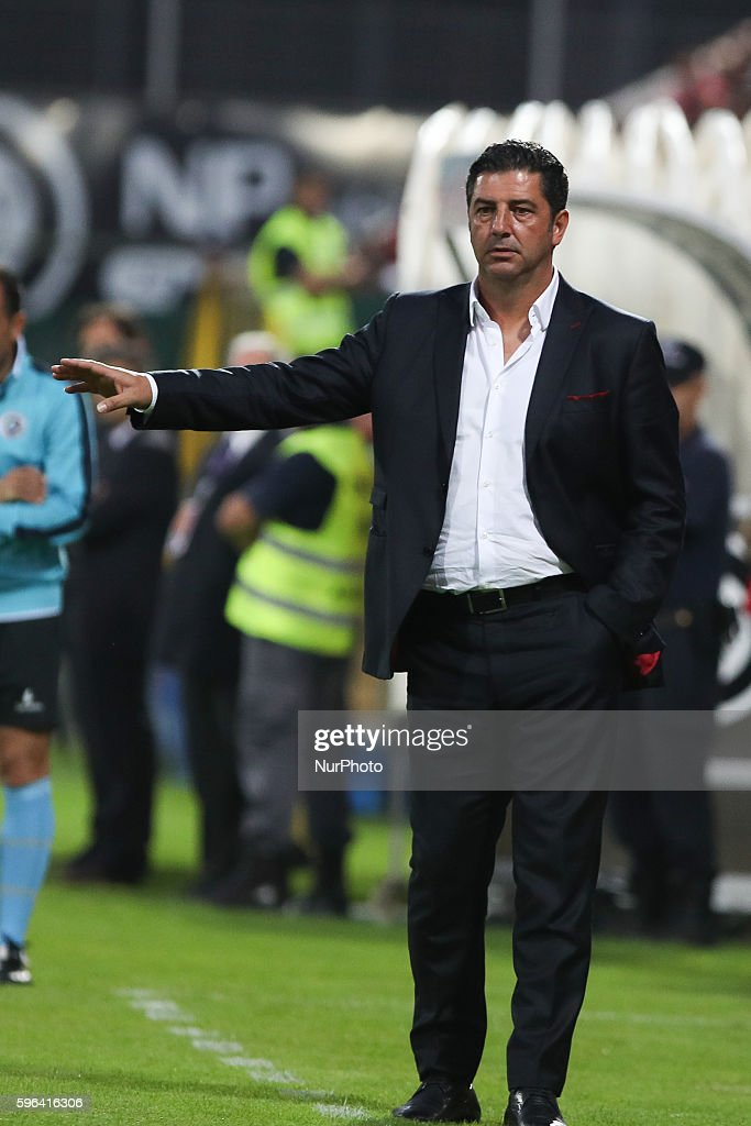 Benfica's Portuguese head coach Rui Vitória during Premier League 2016/17 match between CD Nacional and SL Benfica at Choupana Stadium in Funchal on...