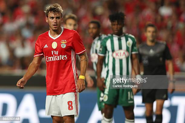 Benfica's Portuguese midfielder Andre Horta during the match between SL Benfica and Vitoria Setubal FC for the Portuguese Primeira Liga at Estadio da...