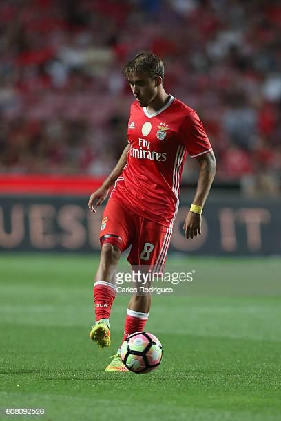 Benfica's Portuguese midfielder Andre Horta during the match between SL Benfica and SC Braga for the Portuguese Primeira Liga at Estadio da Luz on...