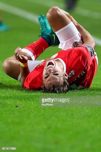 Benfica's Portuguese midfielder Andre Horta during the Premier League 2016/17 match between FC Porto and SL Benfica at Dragao Stadium in Porto on...