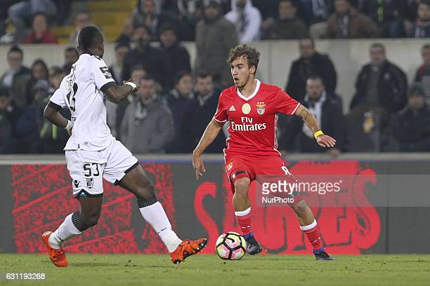 Benfica's Portuguese midfielder Andre Horta during the Premier League 2016/17 match between Vitoria SC and SL Benfica at Dao Afonso Henriques Stadium...