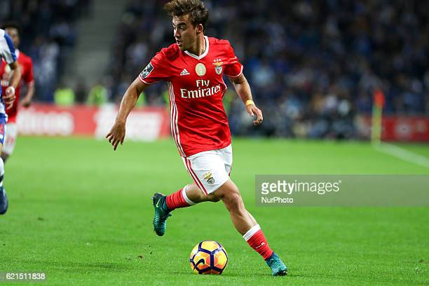 Benfica's Portuguese midfielder Andre Horta in action during the Premier League 2016/17 match between FC Porto and SL Benfica at Dragao Stadium in...