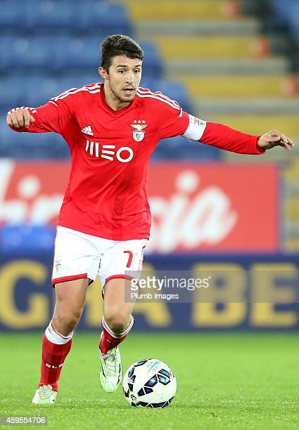 Benfica's Ruben Pinto during the Premier League International Cup match between Leicester City FC and Benfica at The King Power Stadium on November...