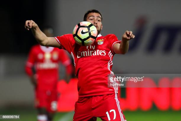 Benfica's Serbian forward Andrija Zivkovic in action during the Premier League 2016/17 match between Moreirense FC and SL Benfica at Parque...