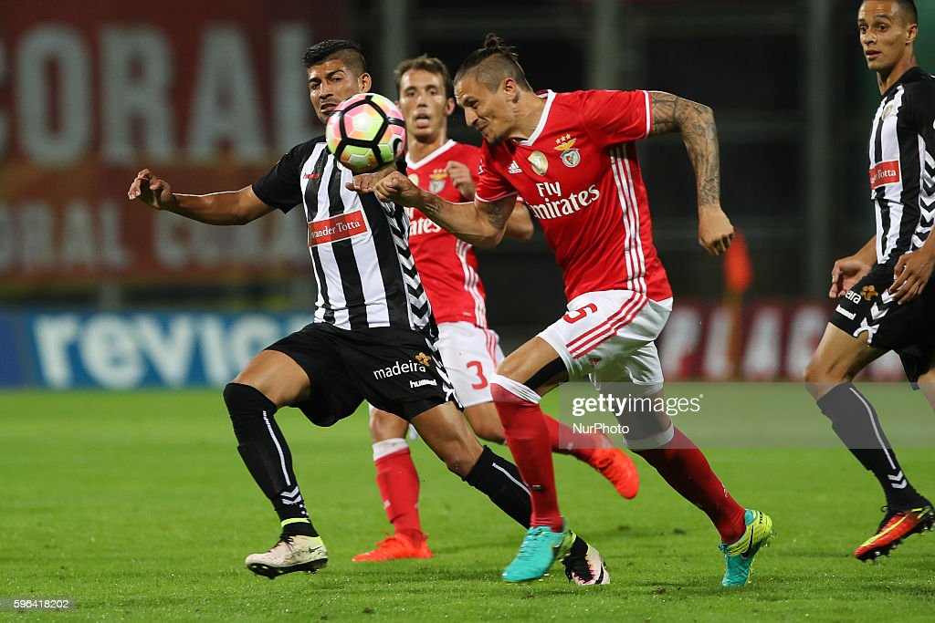 Benfica's Serbian midfielder Ljubomir Fejsa in action during Premier League 2016/17 match between CD Nacional and SL Benfica at Choupana Stadium in...
