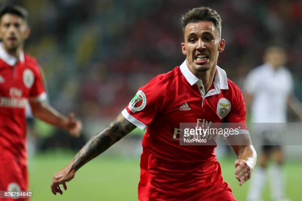 Benfica's Spanish defender Alex Grimaldo during the Candido Oliveira Super Cup match between SL Benfica and Vitoria Guimaraes at Municipal de Aveiro...