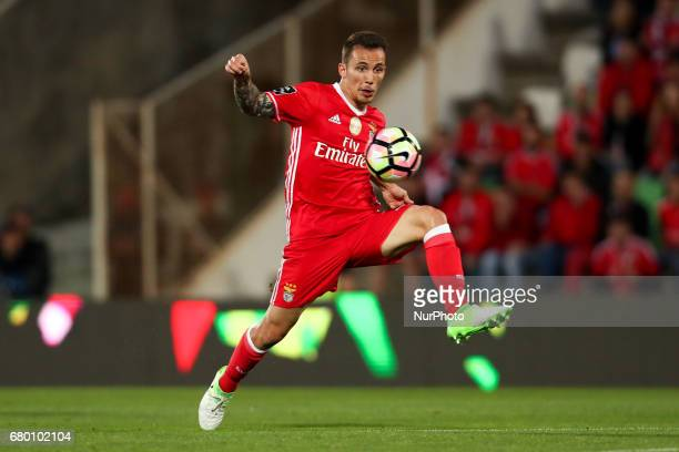 Benfica's Spanish defender Alex Grimaldo in action during the Premier League 2016/17 match between Rio Ave and SL Benfica at Arcos Stadium in Vila do...