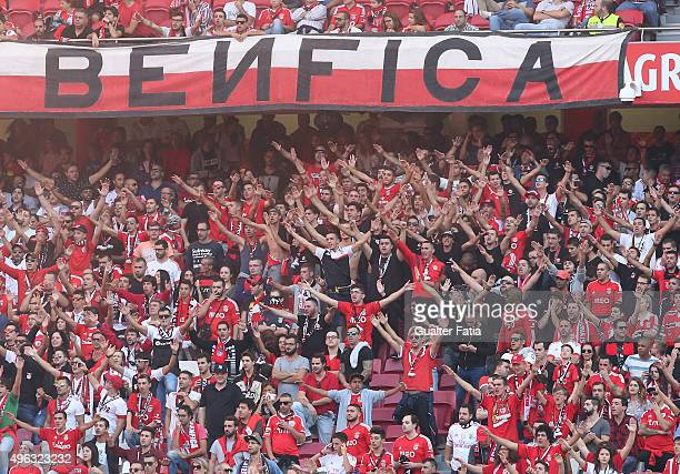 Benfica's supporters during the Primeira Liga match between SL Benfica and Boavista at Estadio da Luz on November 8 2015 in Lisbon Portugal