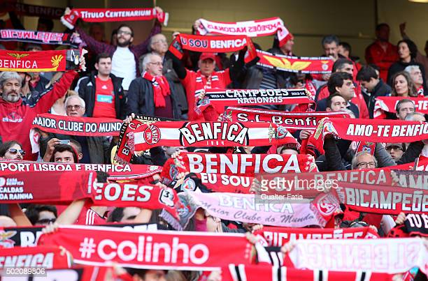Benfica's supporters during the Primeira Liga match between SL Benfica and Rio Ave FC at Estadio da Luz on December 20 2015 in Lisbon Portugal