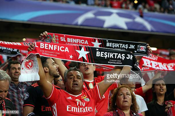 Benfica's supporters during the UEFA Champions League Group B football match between SL Benfica and Besiktas JK at the Luz stadium in Lisbon Portugal...