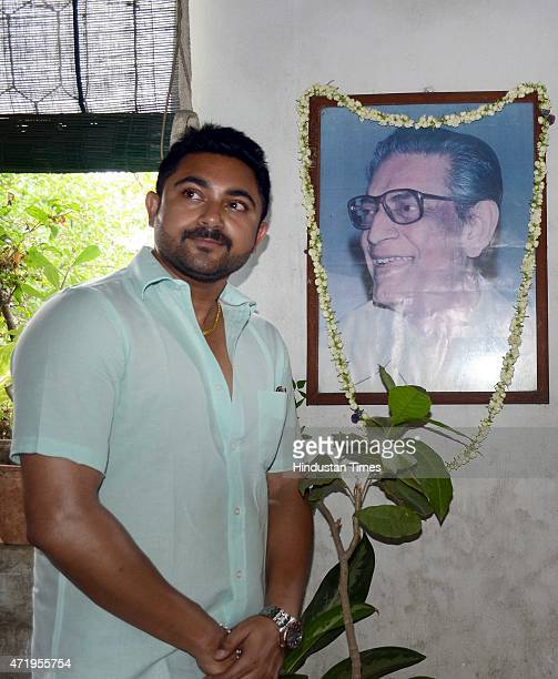 Bengali actor Soham Chakraborty pays tribute to the master filmmaker Satyajit Ray on his 94th birth anniversary at his Bishop Lefroy Road residence...
