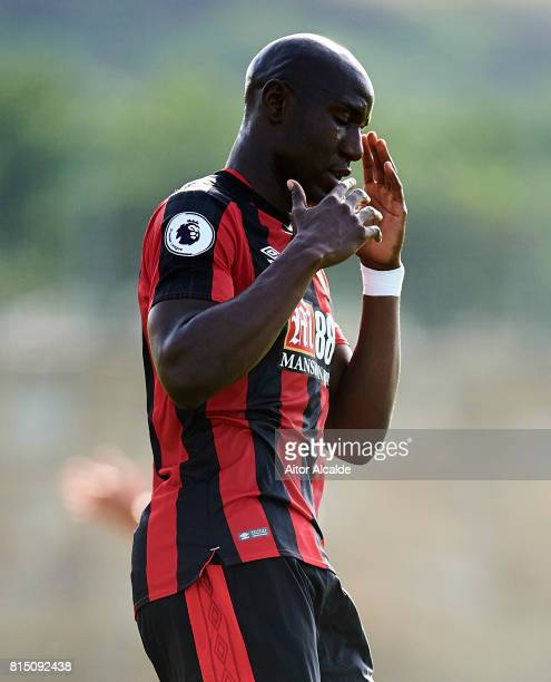 Beni Afobe of AFC Bournemouth looks on during a Pre Season Friendly match between AFC Bournemouth and Estoril Praia at the Marbella Football Center...
