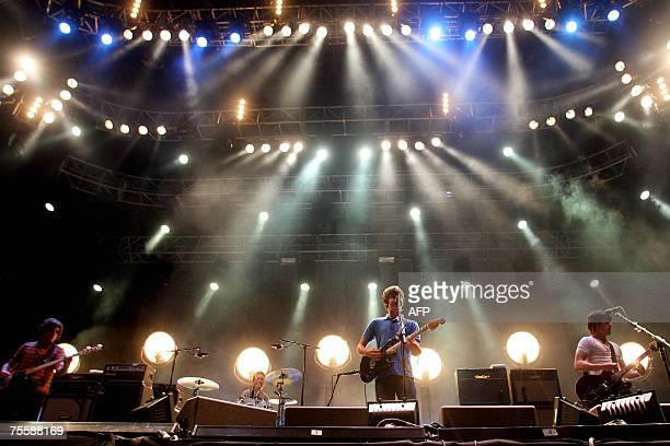 English indie rock band Arctic Monkeys perform during the international Festival of Benicassim 21 July 2007 AFP PHOTO / ALBERTO SAIZ