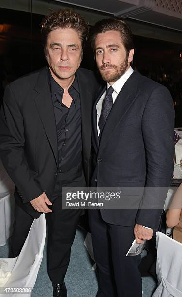 Benicio del Toro and Jake Gyllenhaal attend as Charles Finch hosts his annual Filmmakers Dinner and photographic exhibition in celebration of 'The...
