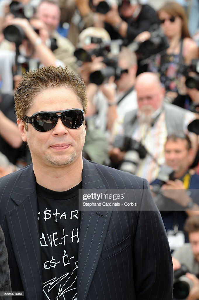 Benicio Del Toro at the Jury Photocall during the 63rd Cannes International Film Festival.