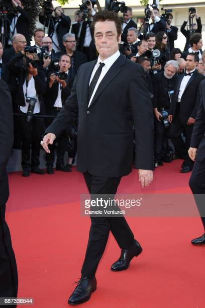 Benicio del Toro attends the 70th Anniversary screening during the 70th annual Cannes Film Festival at Palais des Festivals on May 23 2017 in Cannes...