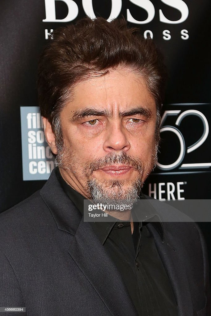 Benicio del Toro attends the Centerpiece Gala Presentation And World Premiere Of 'Inherent Vice' during the 52nd New York Film Festival at Alice...