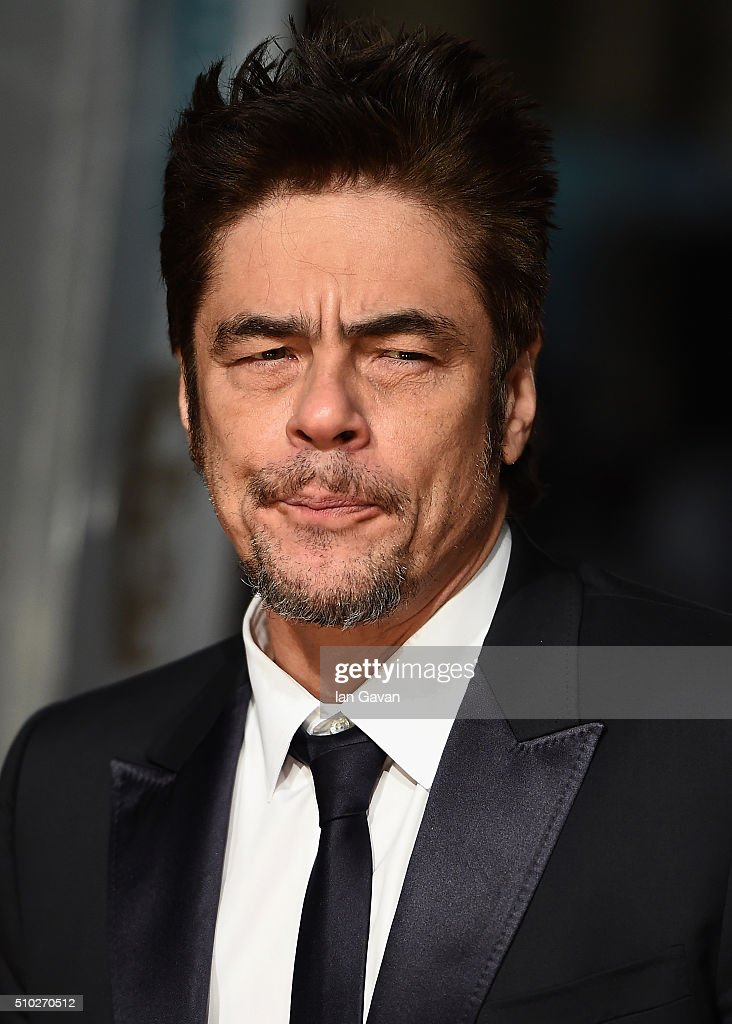 Benicio del Toro attends the EE British Academy Film Awards at the Royal Opera House on February 14, 2016 in London, England.