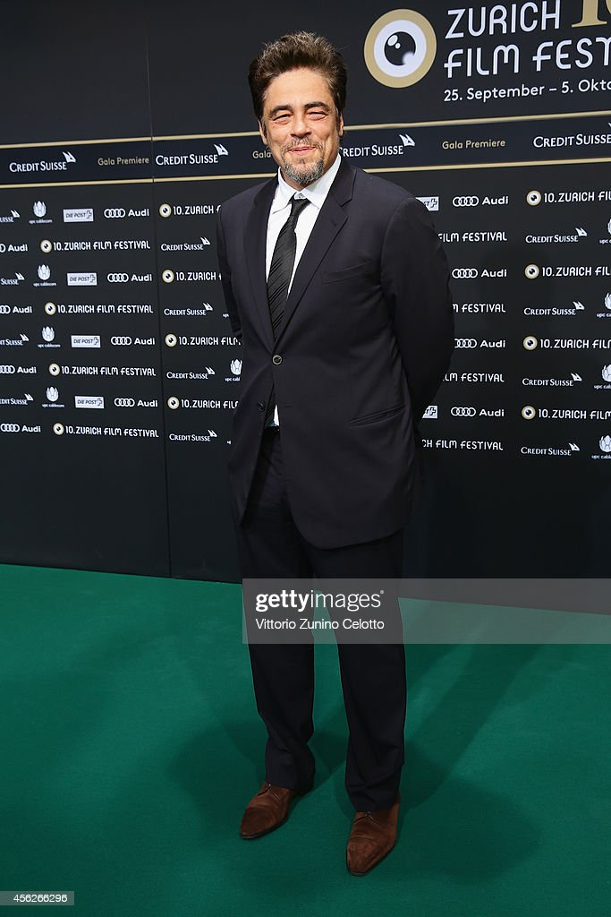 Benicio del Toro attends the 'EscobarParadise Lost' Green Carpet Arrivals during Day 4 of Zurich Film Festival 2014 on September 28 2014 in Zurich...