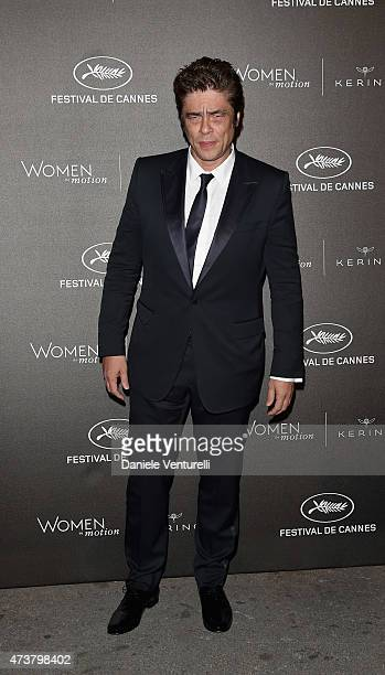Benicio del Toro attends the Kering Official Cannes Dinner at Place de la Castre on May 17 2015 in Cannes France