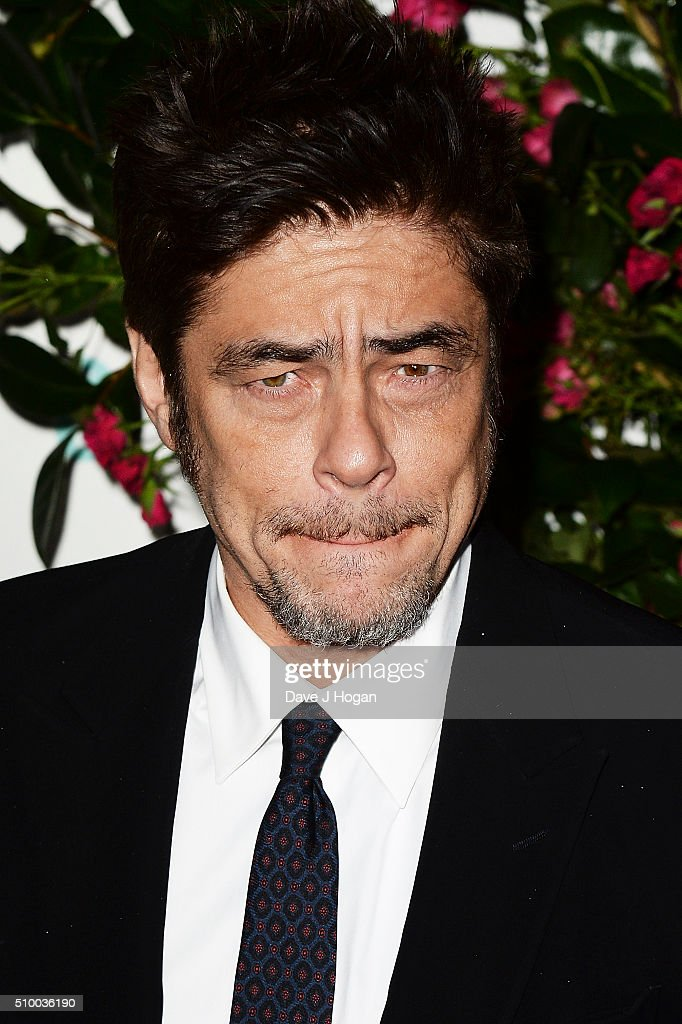 <a gi-track='captionPersonalityLinkClicked' href=/galleries/search?phrase=Benicio+del+Toro&family=editorial&specificpeople=203277 ng-click='$event.stopPropagation()'>Benicio del Toro</a> attends the Lancome BAFTA nominees party at Kensington Palace on February 13, 2016 in London, England.