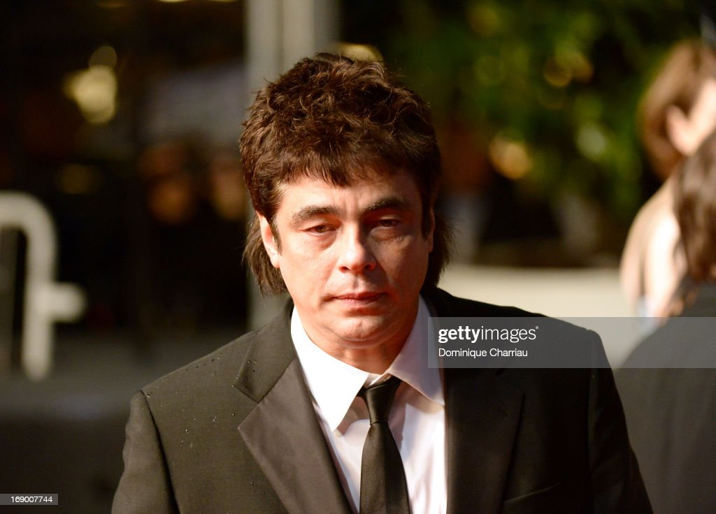 <a gi-track='captionPersonalityLinkClicked' href=/galleries/search?phrase=Benicio+Del+Toro&family=editorial&specificpeople=203277 ng-click='$event.stopPropagation()'>Benicio Del Toro</a> attends the Premiere of 'Jimmy P. (Psychotherapy Of A Plains Indian)' at Palais des Festivals during The 66th Annual Cannes Film Festival on May 18, 2013 in Cannes, France.