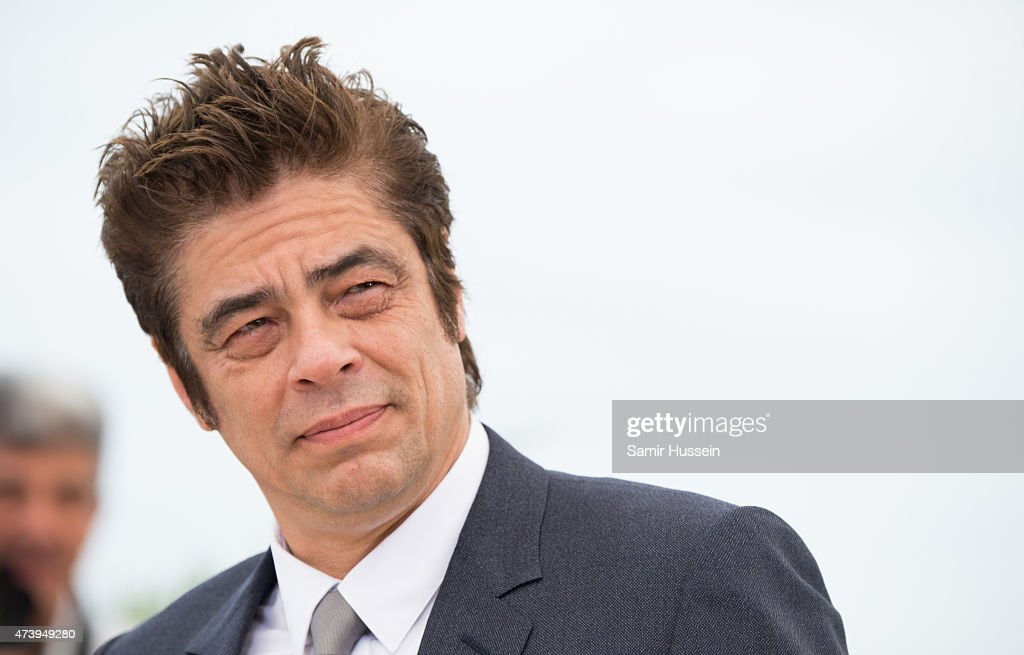 Benicio del Toro attends the 'Sicario' Photocall during the 68th annual Cannes Film Festival on May 19 2015 in Cannes France