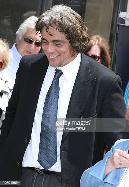 Benicio Del Toro during Stella Adler Honored With Posthumous Star on The Hollywood Walk of Fame at Hollywood Blvd in Hollywood California United...