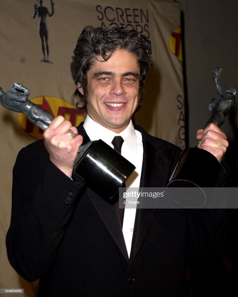 Benicio Del Toro during The 7th Annual Screen Actors Guild Awards at Shrine Auditorium in Los Angeles, California, United States.