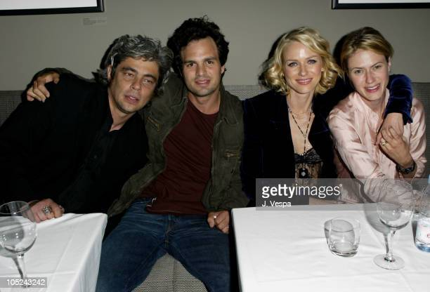 Benicio Del Toro Mark Ruffalo Naomi Watts and Sunrise Ruffalo