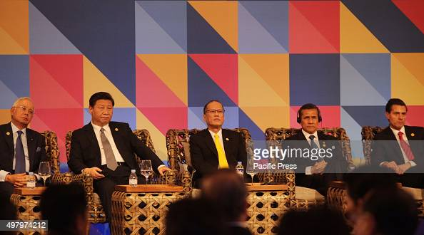 Benigno Aquino III President of the Philippines during the ABAC dialogue with the leaders of AsiaPacific Economic Cooperation forum