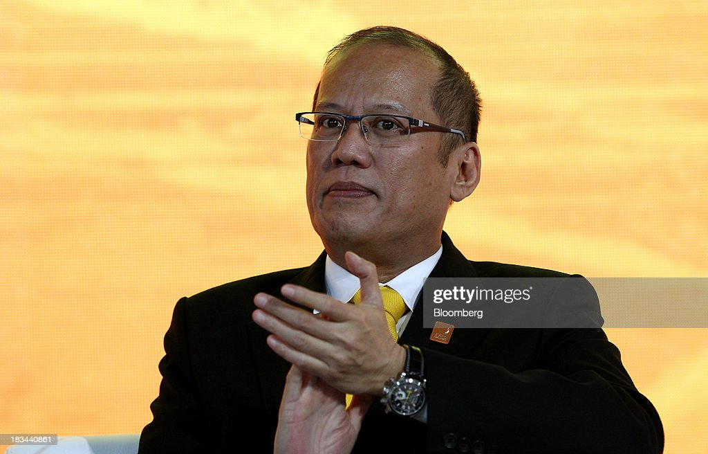 Benigno Aquino, president of the Philippines, attends a panel discussion at the Asia-Pacific Economic Cooperation (APEC) CEO Summit in Nusa Dua, Bali, Indonesia, on Sunday, Oct. 6, 2013. Global growth will probably be slower and less balanced than desired, ministers from the APEC member economies said as they agreed to refrain from raising new barriers to trade and investment. Photographer: SeongJoon Cho/Bloomberg via Getty Images