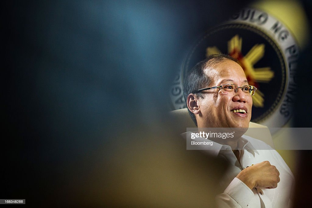 Benigno Aquino, the Philippines' president, speaks during an interview in the Malacanang Palace compound in Manila, the Philippines, on Wednesday, May 8, 2013. The Philippines, Asia's fastest-growing economy after China, needs to do more to finally lose its decades-old tag as the 'Sick Man of Asia,' according to Aquino. Photographer: Julian Abram Wainwright/Bloomberg via Getty Images