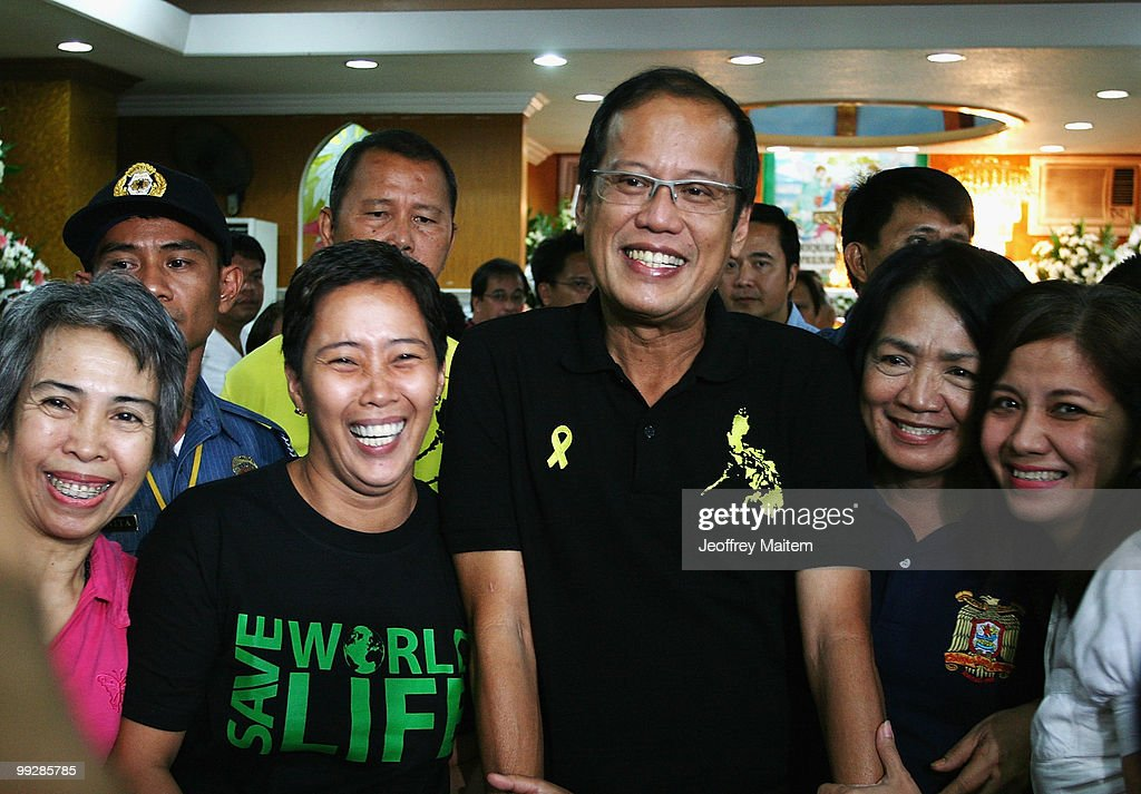 Benigno 'Noynoy' Aquino is seen as he is unofficially announced as the 15th President of the Philippines on May 14, 2010 in Tarlac, Philippines. The country went to the polls on May 10 to elect the next President to succeed outgoing President Gloria Macapagal-Arroyo, with the count finally declaring Liberal Party leader Aquino, who is the son of former President Corazon Aquino and former Senator Benigno Aquino, Jr, victorious.