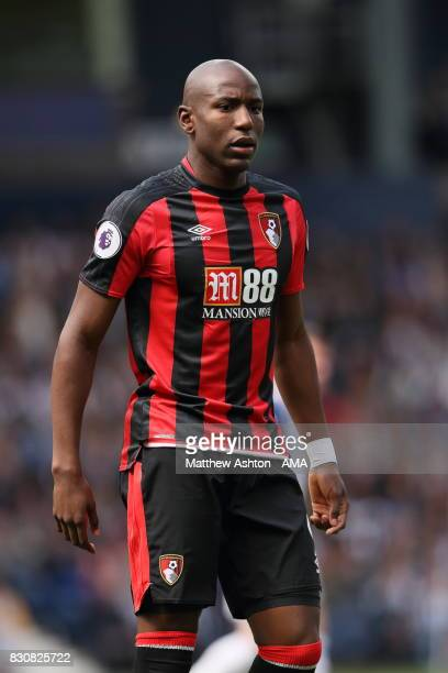 Benik Afobe of AFC Bournemouth during the Premier League match between West Bromwich Albion and AFC Bournemouth at The Hawthorns on August 12 2017 in...