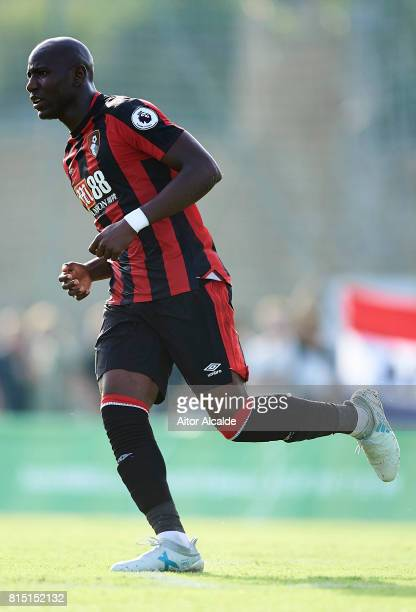 Benik Afobe of AFC Bournemouth in action during a Pre Season Friendly match between AFC Bournemouth and Estoril Praia at the Marbella Football Center...