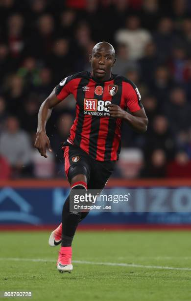 Benik Afobe of AFC Bournemouth in action during the Premier League match between AFC Bournemouth and Chelsea at Vitality Stadium on October 28 2017...