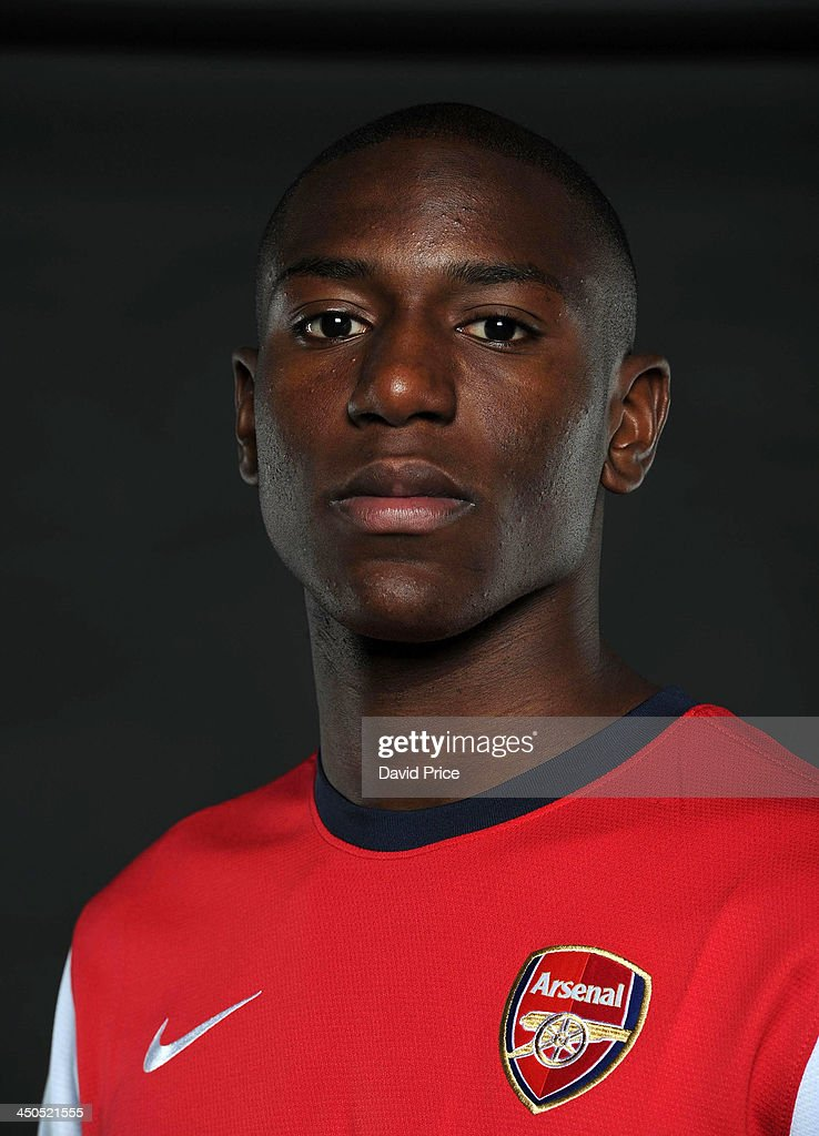 Benik Afobe of Arsenal during a Arsenal Magazine photoshhot at London Colney on November 19, 2013 in St Albans, England.