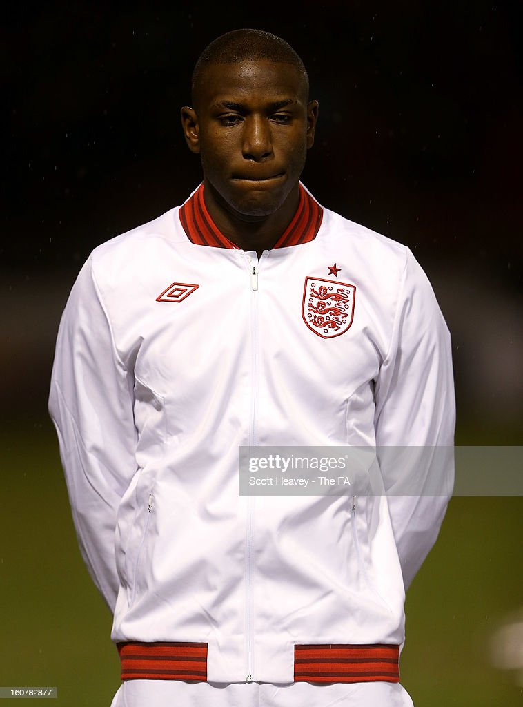 Benik Afobe of England during the International Match between England Under 21's and Sweden Under 21's at Banks' Stadium on February 5, 2013 in Walsall, England.